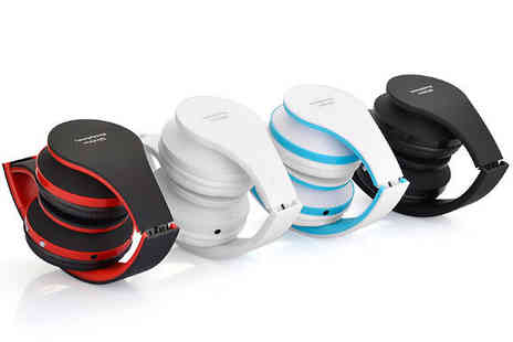 eFindbest - Foldable Wireless Bluetooth Headset Choose from 4 Colours - Save 63%