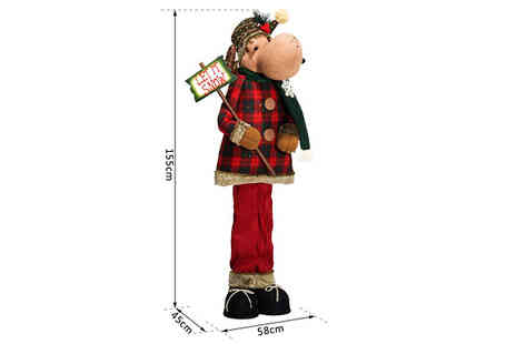 Mhstar - Standing Christmas Plush Doll Available in 2 Styles - Save 56%