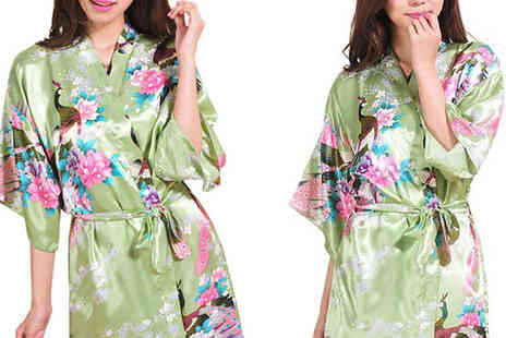 eFindbest - Luxury Silk Blend Kimono Choose from 3 Colours - Save 71%