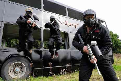 Bedlam Paintball - Paintballing day for up to 10 people with 100 balls each - Save 90%