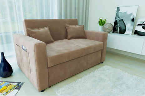 D Furniture Store - Two seater sofa bed choose either taupe or charcoal - Save 50%