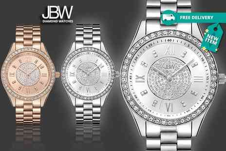 Idealdeal - Ladies luxury crystal mondrian watch 4 designs plus Delivery is Included - Save 76%