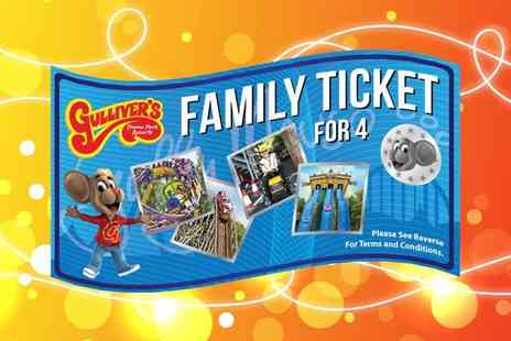 Gullivers - Family of four gift ticket to six to Gullivers Theme Park - Save 35%