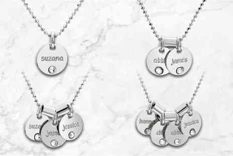 Jewells House - Personalised circle necklace made with crystals from Swarovski - Save 79%