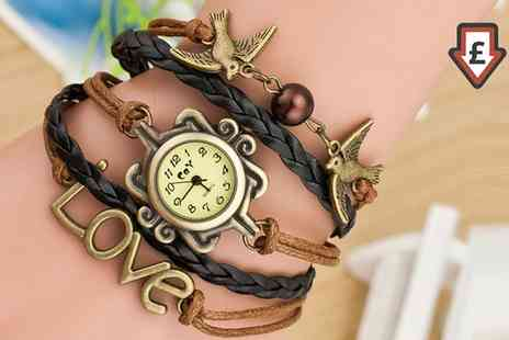 Groupon Goods Global GmbH - Womens Charm Bracelet Watch - Save 0%