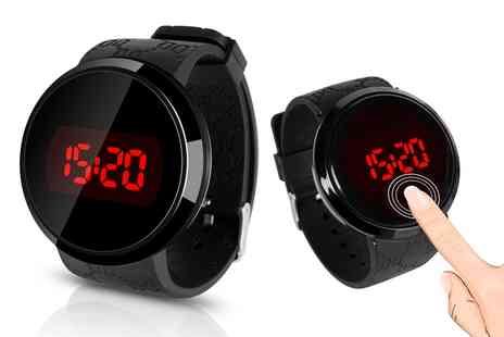 Groupon Goods Global GmbH - Touch Screen Silicone Strap Watch Led in Black - Save 29%
