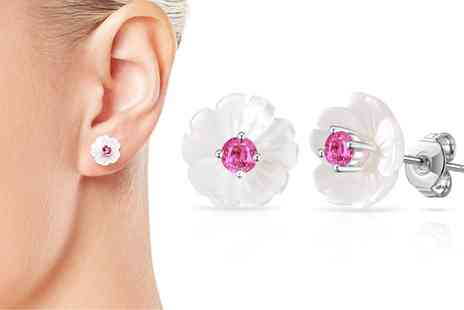 Groupon Goods Global GmbH - One or Two Pairs of Philip Jones Flower Cluster Earrings with Crystals from Swarovski - Save 85%