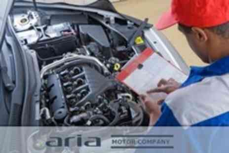 Aria Motor Company - Car Service With MOT and 40 Point Check Plus Car Wash - Save 70%