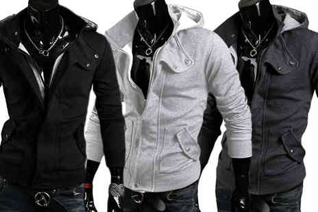 Blu Apparel - Mens Hooded Jacket Available in 3 Colours - Save 63%