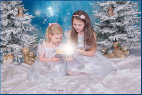 "Village Photography - Frozen Fairies and Elves Winter Wonderland photoshoot for up to three children including a 8"" x 6"" print - Save 90%"