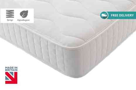 My Mattress Online - Hypoallergenic quilted Bonnell memory spring mattress choose from five sizes plus Delivery is Included - Save 84%