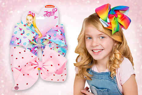 Sambro International - JoJo Siwa signature bow twin pack choose from five pairs of designs - Save 50%
