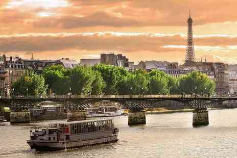 Short Break - Day trip to Paris with Eurostar transfers and River Seine cruise or stay one, two or three nights - Save 66%
