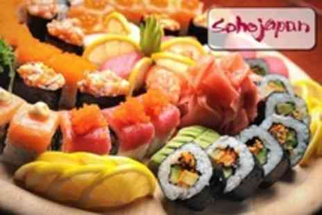 Soho Japan - Three Course Japanese Mea for Twelve Sushi Pieces Plus Tempura and Dessert Each For Two - Save 54%