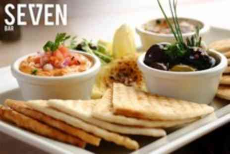 Seven Bar - Meze For Two With Bottle of Wine Per Pair - Save 62%