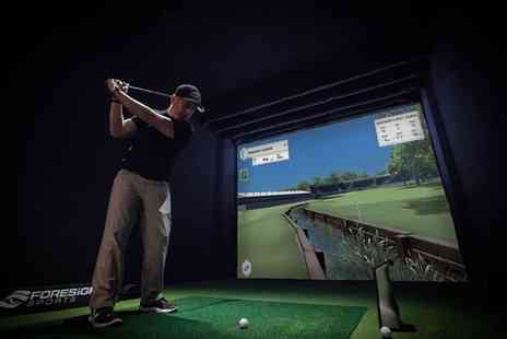 Bishopbriggs Golf Range - One Hour Golf Simulator Play for Two or Two Hour Golf Simulator Play for Four - Save 53%