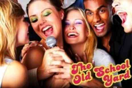 The Old School Yard - Private Karaoke Booth Hire With Cocktails and Food Platter - Save 87%