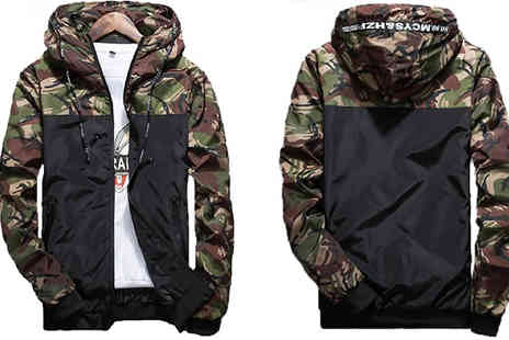 Blu Apparel - Men's Camo Jacket Available in 7 Sizes - Save 33%