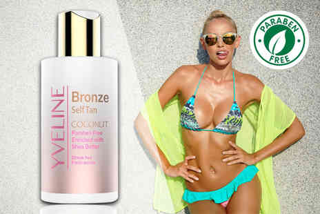 Blush Look - 100ml bottle of Yveline bronze coconut face and body self tan - Save 84%