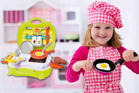 ViVo Technologies - Portable kids play set choose between pizzeria, supermarket and kitchen - Save 68%