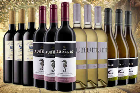 Easy Gifts - 12 bottles of premium selection awarded wines - Save 48%