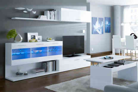 D Furniture Store - White TV and media centre shelving unit - Save 48%
