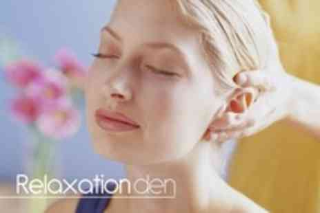 The Relaxation Den - Indian Head Massage Plus Mini Facial - Save 63%