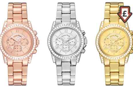 Groupon Goods Global GmbH - Bracelet Watch Embellished With Crystals From Swarovski in Choice of Colour - Save 61%