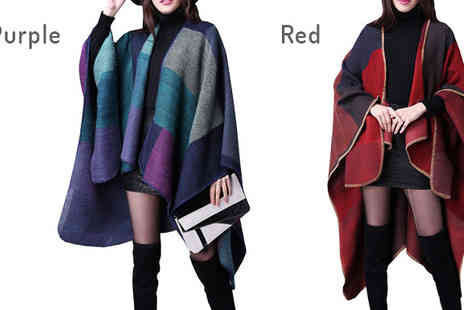 Bazaar me - Reversible Oversized Poncho Choose 4 Colours - Save 83%