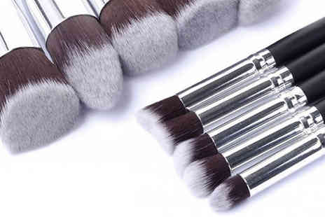 Bazaar me - 10 Piece Make Up Brush Set Available in 5 Colours - Save 64%