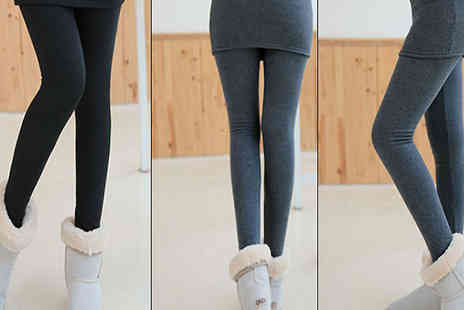 Bazaar me - Warm Winter Skirt Leggings Available in 4 Colours - Save 83%