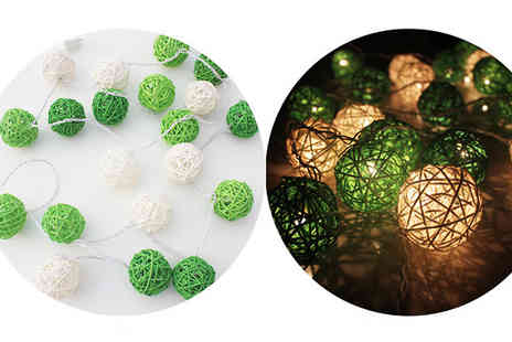 Shenzhen steady rapid trade - Rattan Ball Fairy Lights Choose 9 Colours - Save 0%