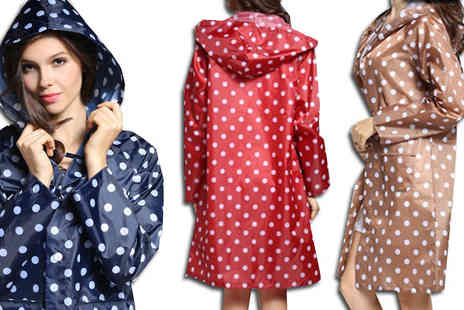 Bazaar me - Polka Dot Ultra Light Raincoat Available in 4 Colours - Save 78%