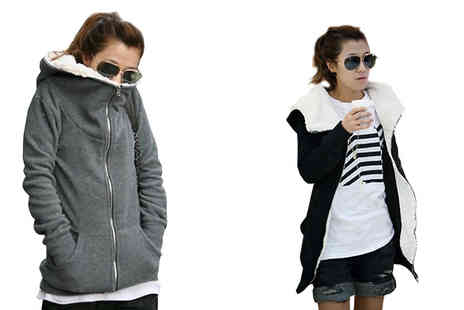 Bazaar me - Hooded Thick Cotton Coat Available in 2 Colours - Save 67%