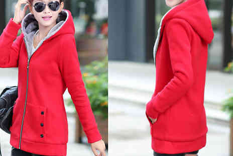 Bazaar me - Fleece Lined Hooded Coat Available in 4 Colours - Save 72%