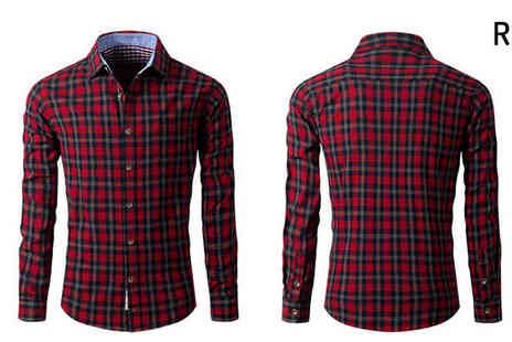 Bazaar me - Long Sleeve Checked Shirt Choose from 4 Sizes - Save 84%