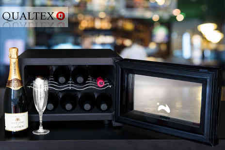 Qualtex UK - Thermoelectric wine cooler chill up to eight bottles of wine - Save 51%