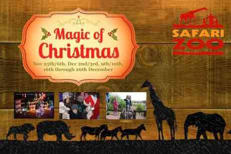 Safari Zoo - Entry with a Christmas activity wristband for one or with early entry and breakfast or include a three course festive lunch - Save 33%