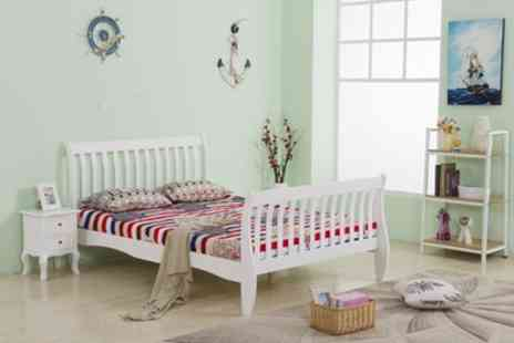 Groupon Goods Global GmbH - Single or Double Solid Pine Wood Bed Frame With Free Delivery - Save 0%