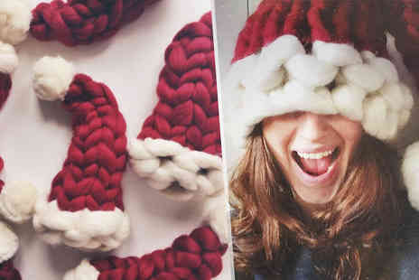 Bazaar me - Knitted Christmas Beanie Hats Available in Kids or Adults - Save 73%
