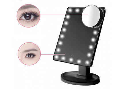 Bazaar me - Touch Screen Led Make Up Mirror With Free Delivery - Save 79%