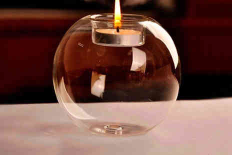 Richardson - 3 Sphere Glass Candle Holders - Save 50%
