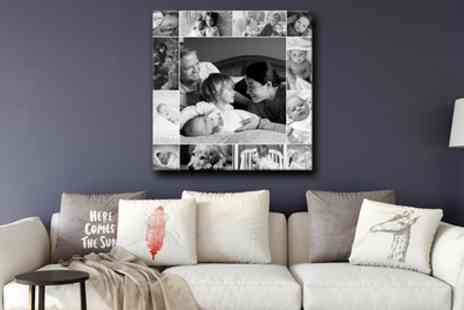 Grange Print - Personalised Single Image or Collage Canvas from Grange Print - Save 93%