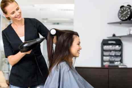 Hairline - Wash, Cut and Blow Dry with Optional Half Head Highlights or Full Head Colour - Save 55%