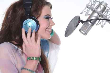 Singing Experience - Up to two hour hit single recording studio experience including a cover photoshoot and CD - Save 81%