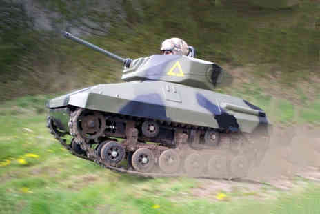 Minitank Elite - 15 lap mini tank driving experience for one or two - Save 50%