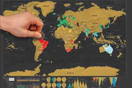 DM Logistic Solutions - World scratch map - Save 80%