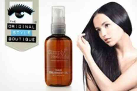 Original Style Boutique - Three Bottles of Moroccan Argan Hair Treatment Oil - Save 71%