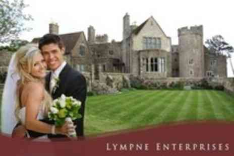 Lympne Castle Enterprises - Wedding Package For 50 Guests Exclusive Venue Hire, Drinks Reception, and Wedding Breakfast - Save 65%