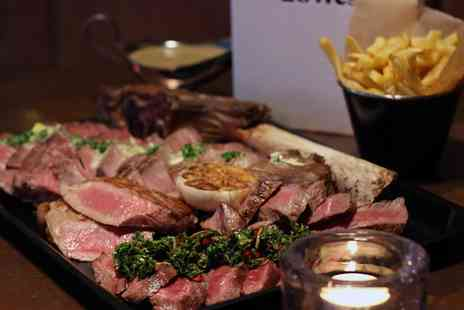 28West - Tomahawk Steak or Signature Steak Selection with a Bottle of Malbec for Two - Save 42%